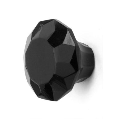 Glass Knob, Black