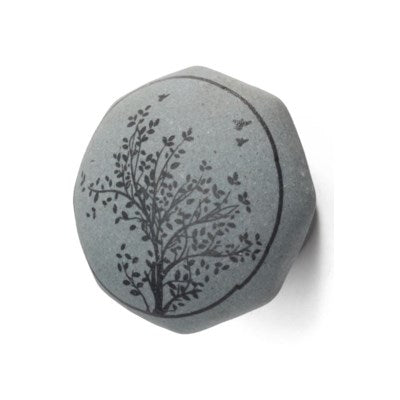 Raw Ceramic Knob, Tree