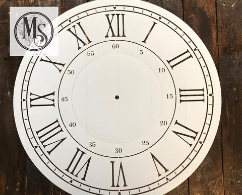 Clock Stencil with Border and Seconds