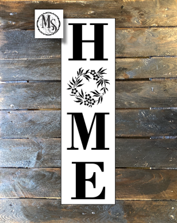 Home - Vertical Stencil