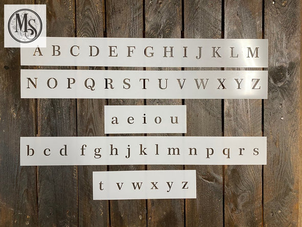 Alphabet - Serif Font Upper & Lower Case