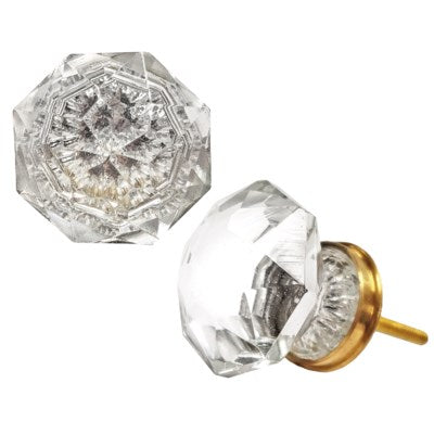 Facetted Crystal Knob