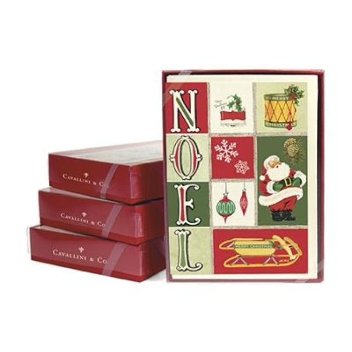Boxed Note Cards (set of 10) | Noel | cavallini | $16.00