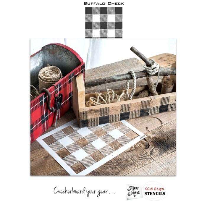 Buffalo Check Pattern by Funky Junks Old Sign Stencils | stencil | $39.00
