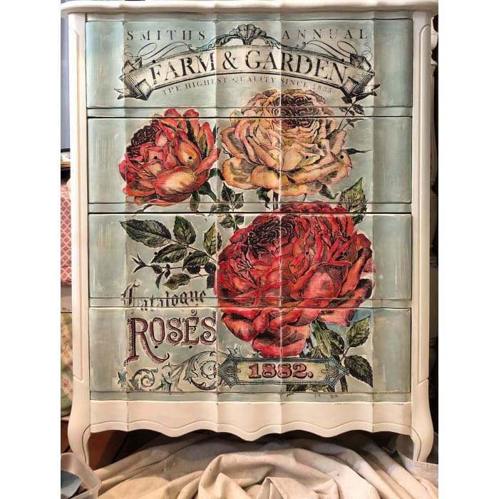 Catalogue of Roses Paintable Decor Transfer (24×33) | TRANSFERS | $40.00