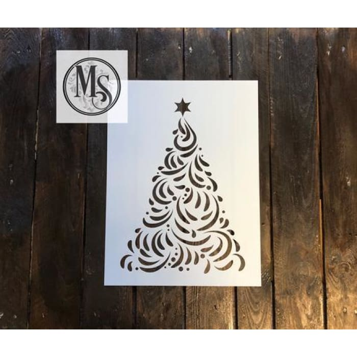 Decorative Christmas Tree | stencil | $28.00