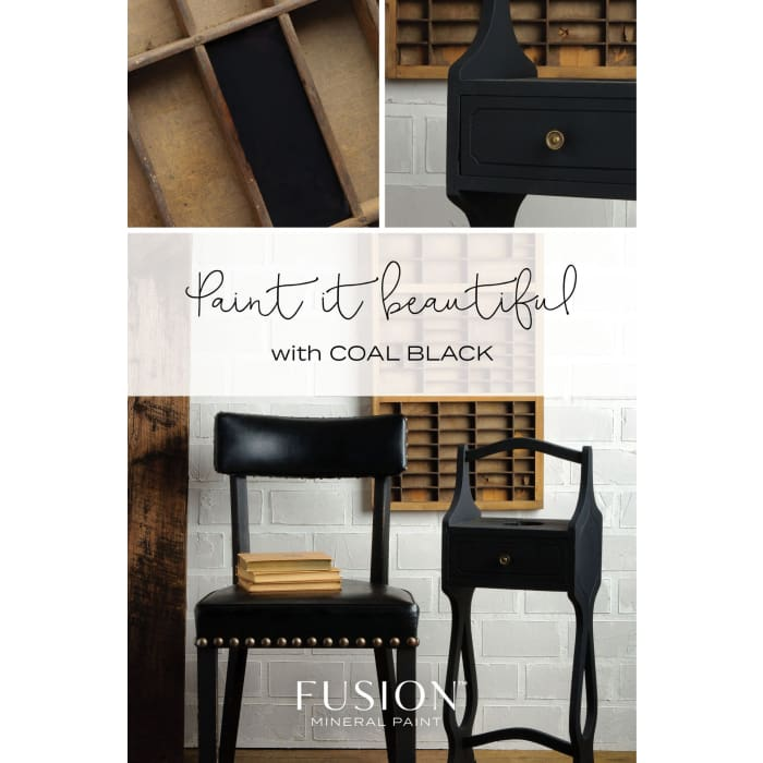 FUSION MINERAL PAINT (Tester - 37 ml) | Coal Black | PAINT | $5.00