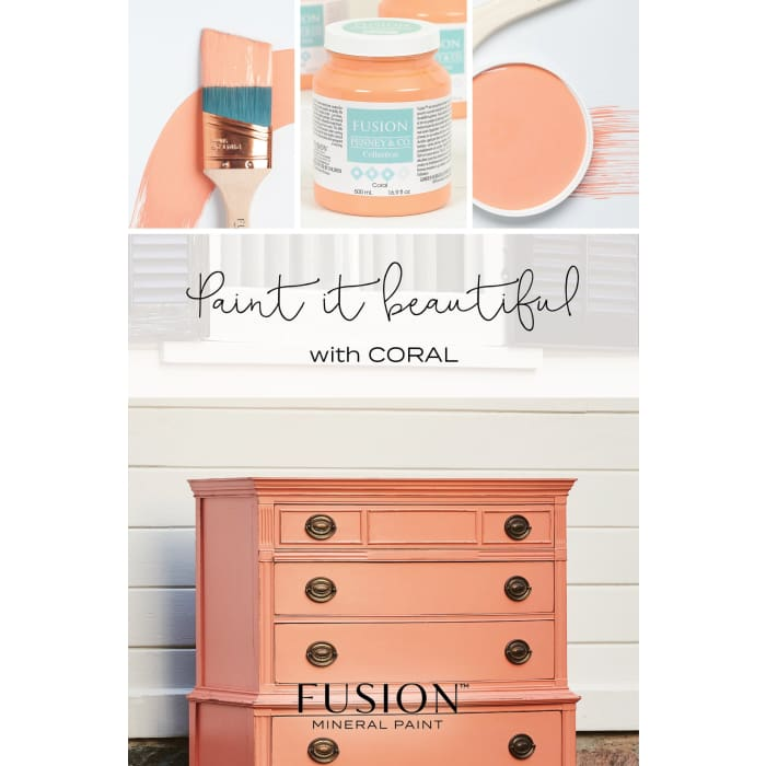 FUSION MINERAL PAINT (Tester - 37 ml) | Coral | PAINT | $5.00