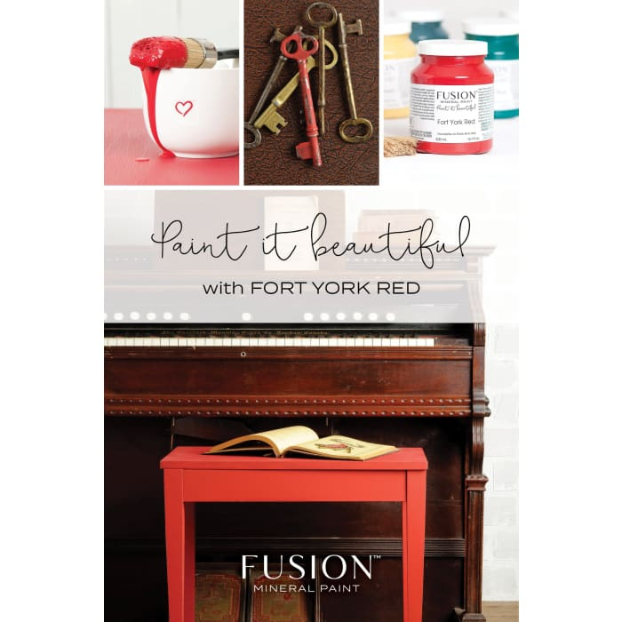 FUSION MINERAL PAINT (Tester - 37 ml) | Fort York Red | PAINT | $5.00