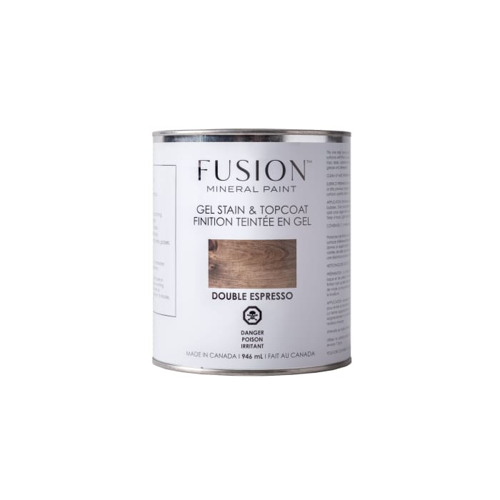 Gel Stain & Topcoat | Double Espresso | FUSION MINERAL PAINT | $40.00