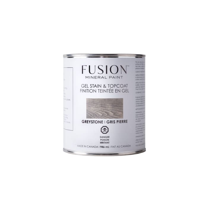 Gel Stain & Topcoat | Greystone | FUSION MINERAL PAINT | $40.00