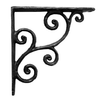 Rustic Shelf Bracket, Black
