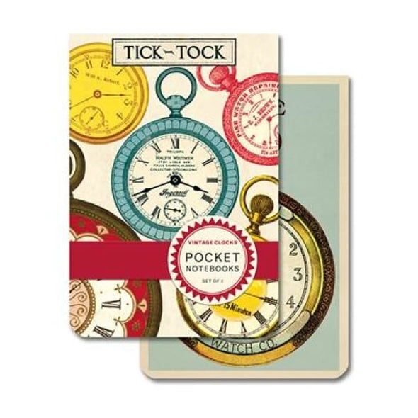 Pocket Notebooks | Vintage Clocks | cavallini | $7.00