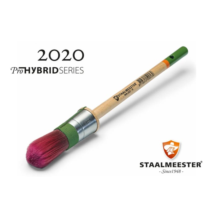 Staalmeester Brushes | Round Natural Bristle #20 (2020) | FUSION MINERAL PAINT | $32.00