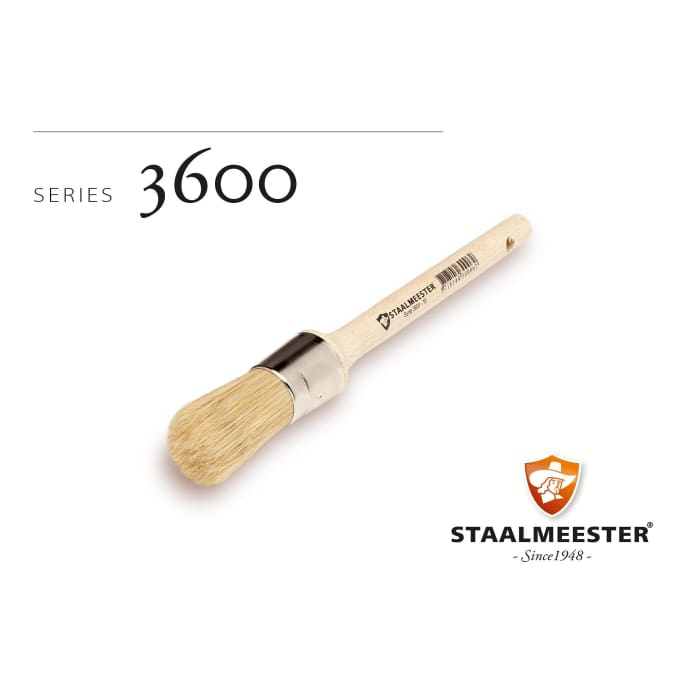 Staalmeester Brushes | Round Natural Bristle #20 (3600) | FUSION MINERAL PAINT | $20.00