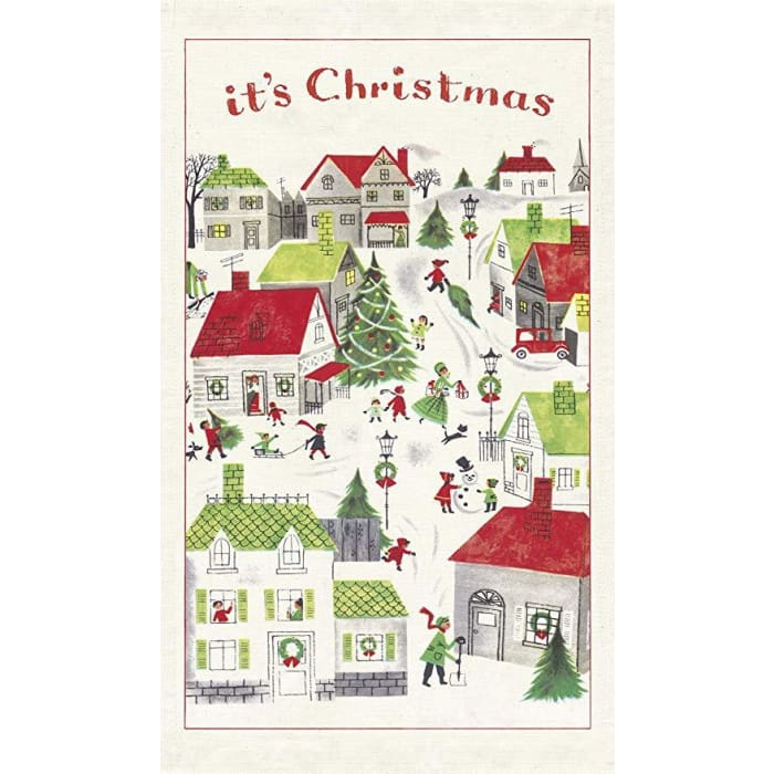 Tea Towels | Christmas Village | Cavallini | $12.00