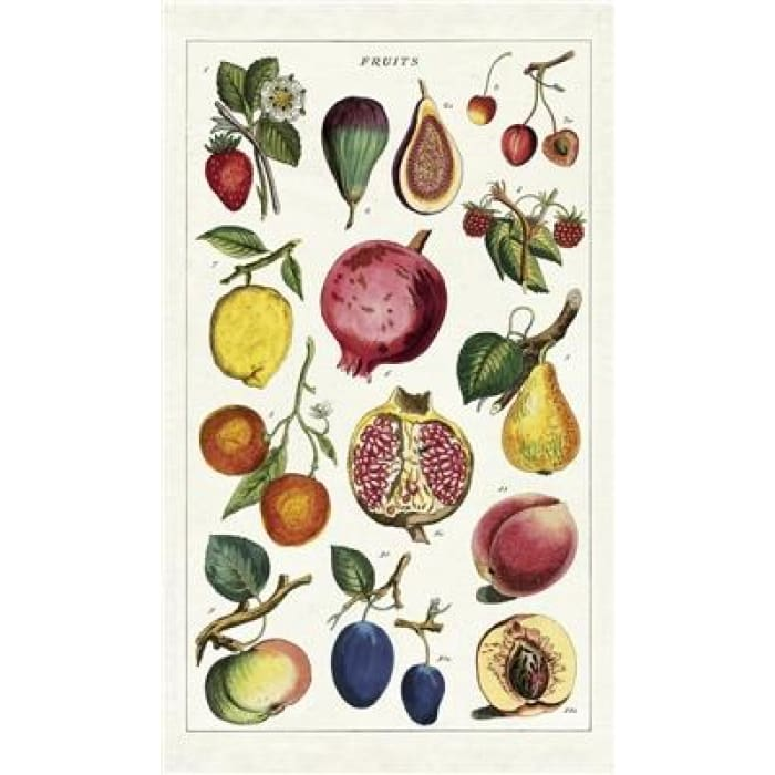 Tea Towels | Fruits | Cavallini | $12.00