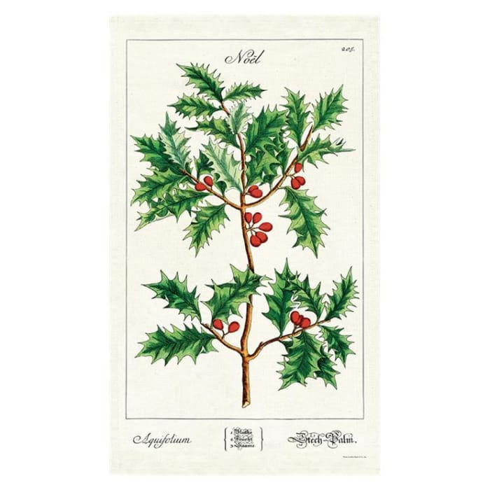 Tea Towels | Holly Tea Towel | Cavallini | $12.00