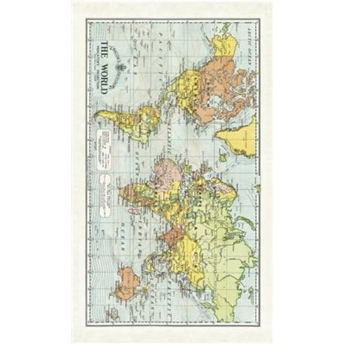 Tea Towels | World Map | Cavallini | $12.00