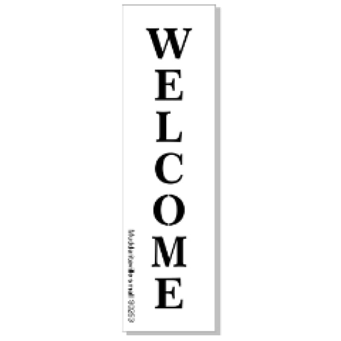 Welcome - Vertical Stencil Large | stencil | $40.00