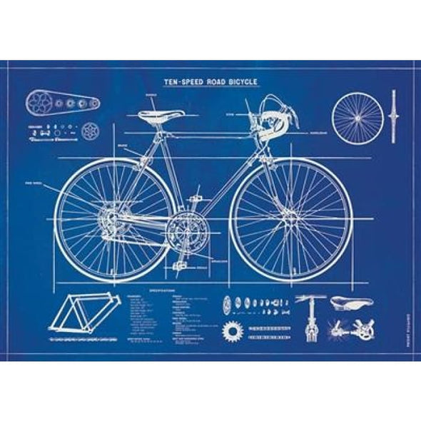 Wraps & Posters | Bicycle Blueprint | cavallini | $6.00