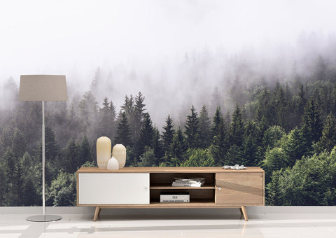 Mountain Fog Peel and Stick Wallpaper Mural