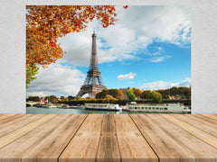 Eiffel Tower by Day Peel and Stick Wallpaper