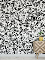 Black Spot Peel and Stick Wallpaper