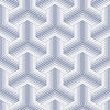 blue and white basketweave pattern peel and stick wallpaper