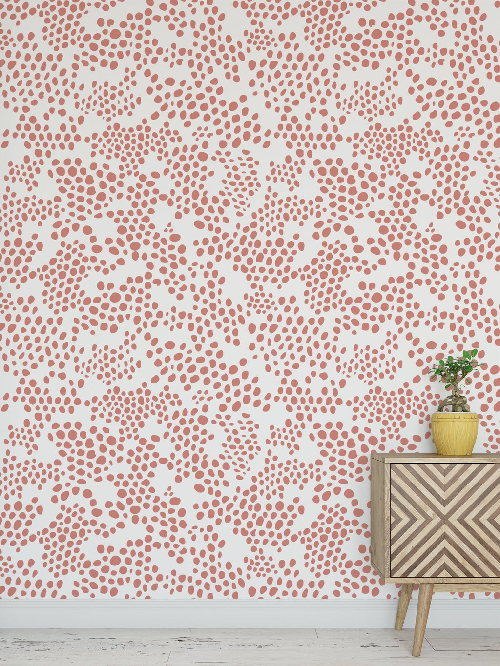 Coral Spot Peel and Stick Wallpaper