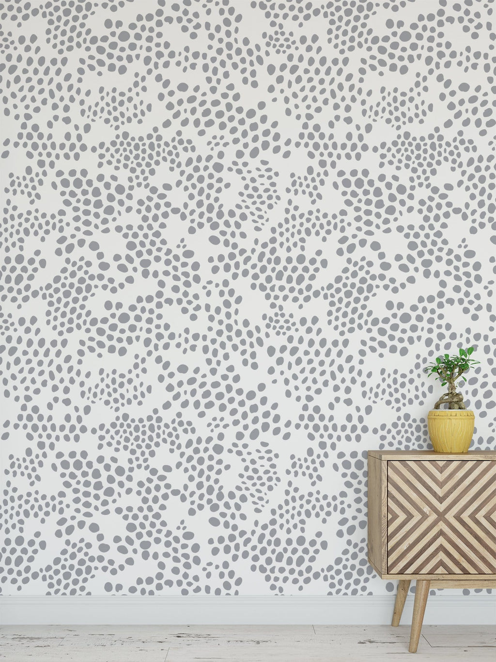 Gray Spot Peel and Stick Wallpaper