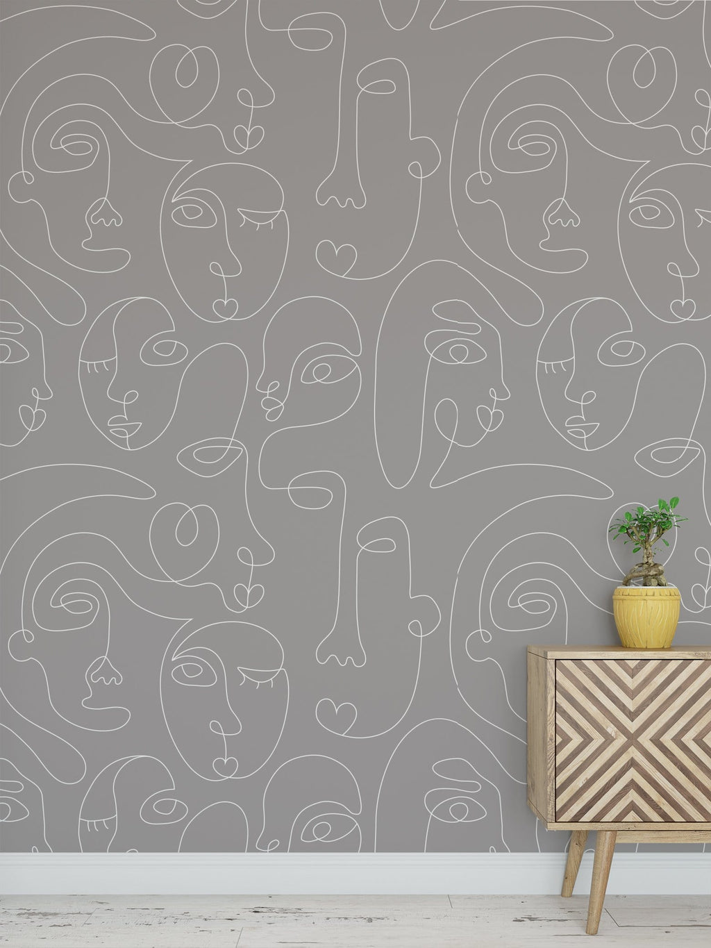 Gray Commune Peel and Stick Wallpaper