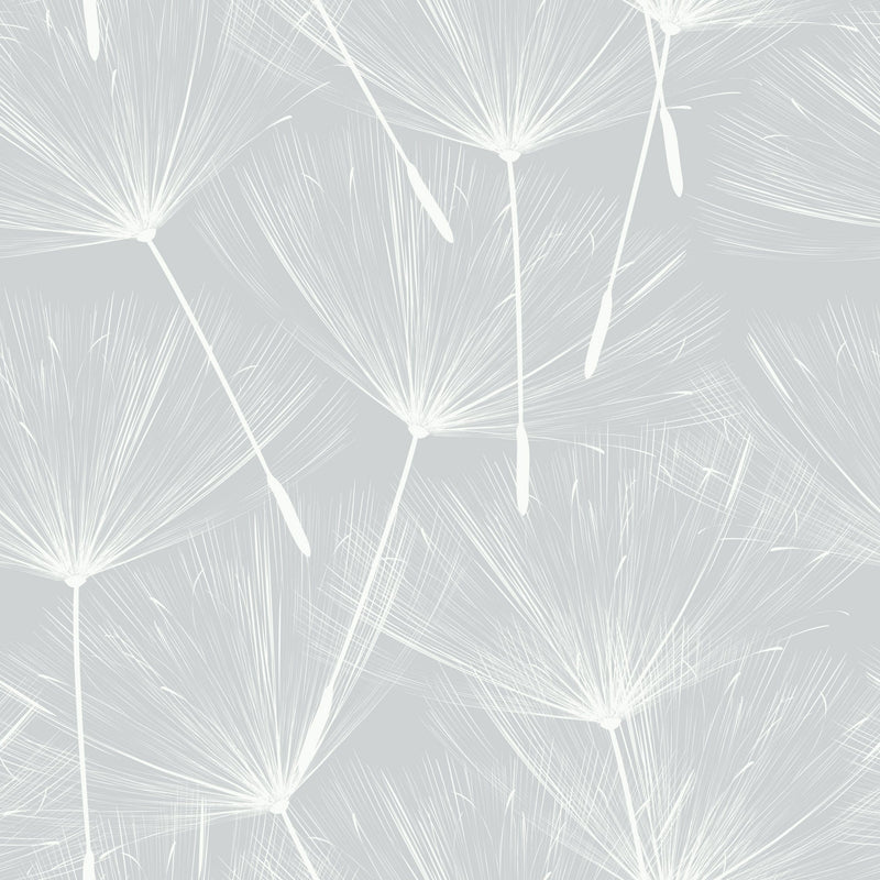 Gray Make A Wish Peel and Stick Wallpaper