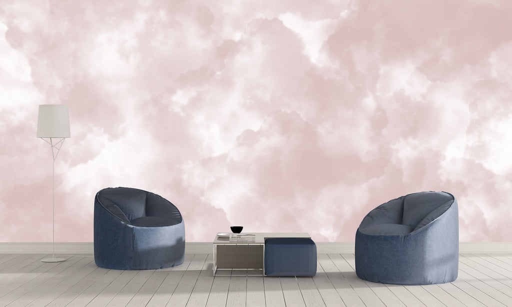 Pink Head in the Clouds Mural Peel and Stick Wallpaper