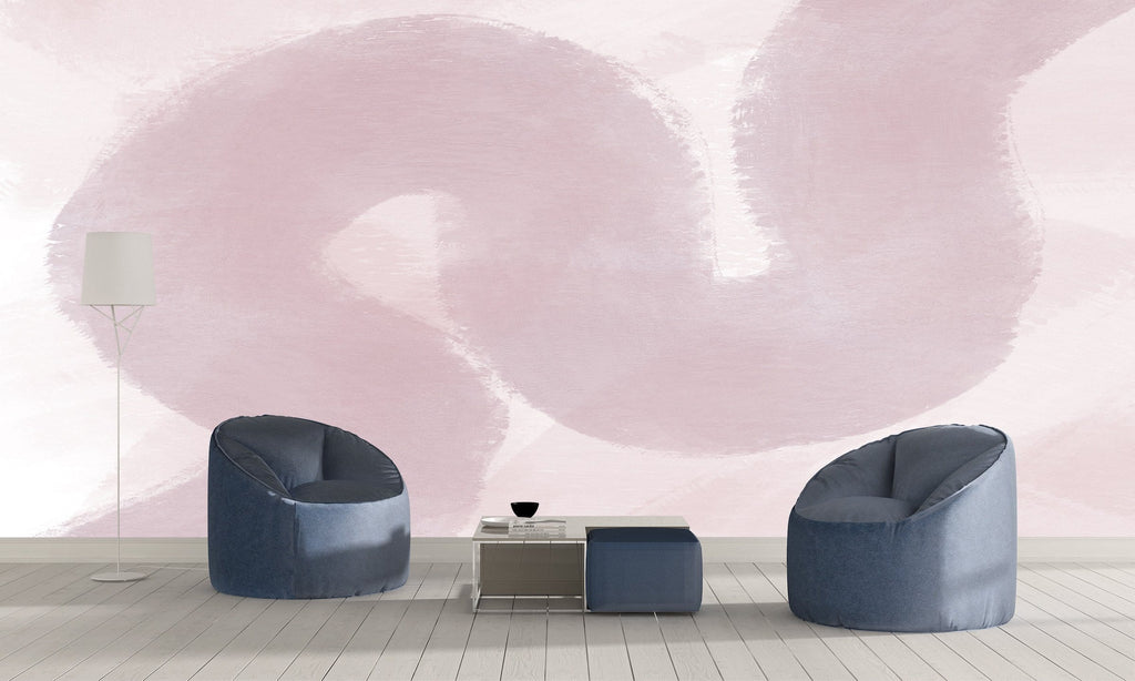 Pink Frequency Mural Peel and Stick Wallpaper