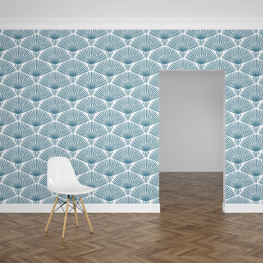 Ocean Blue Grove Peel and Stick Wallpaper