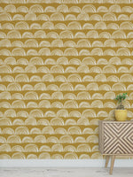 Ochre Glimmer Peel and Stick Wallpaper