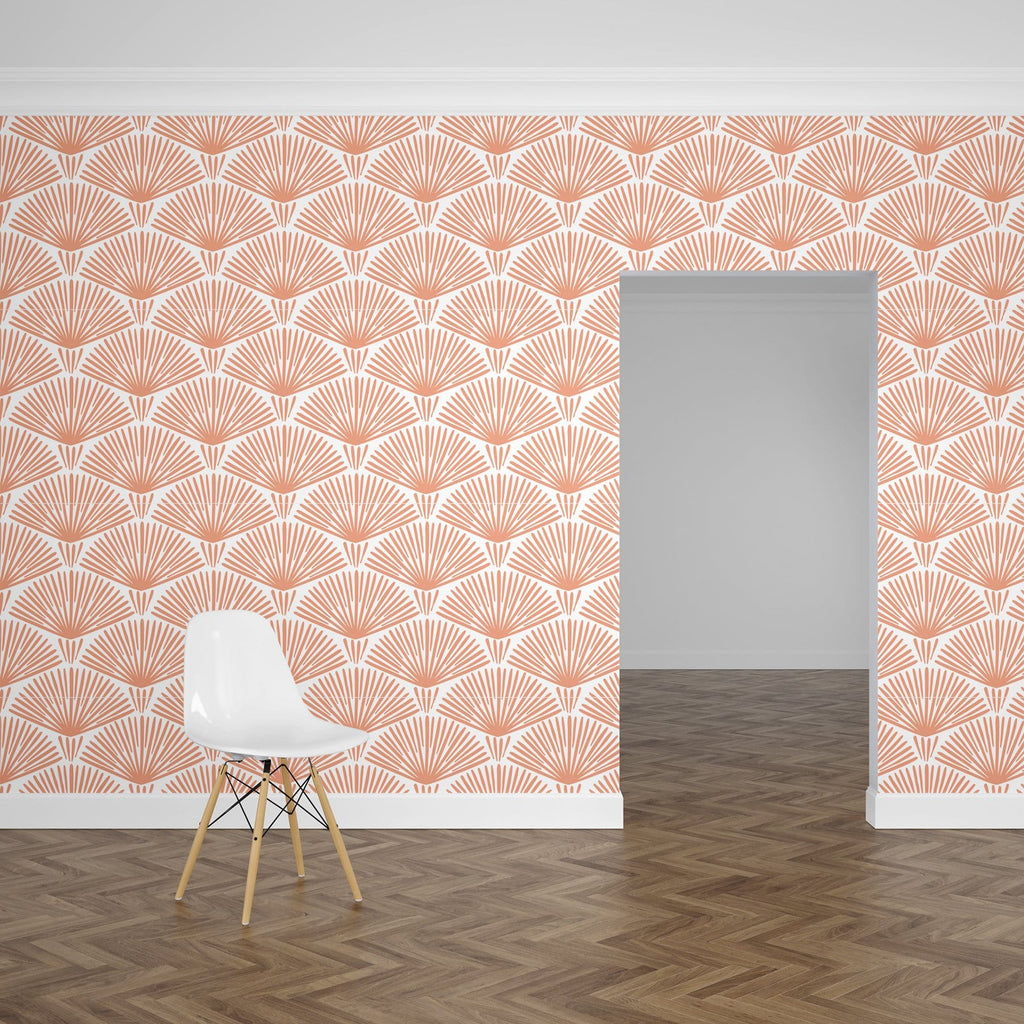 Peach Grove Peel and Stick Wallpaper