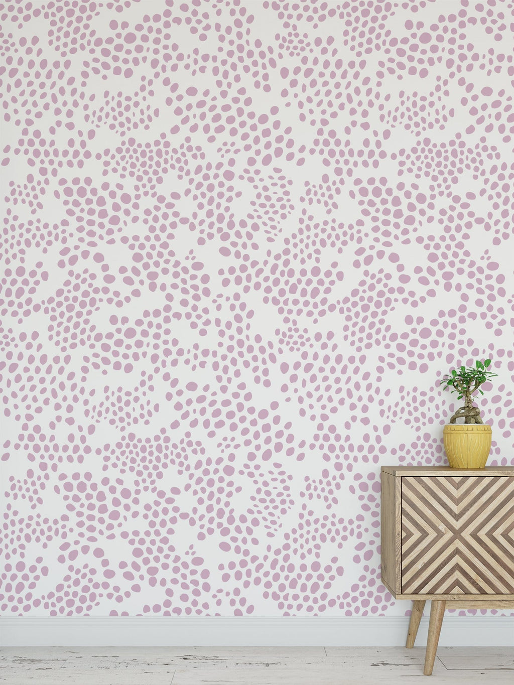Pink Spot Peel and Stick Wallpaper