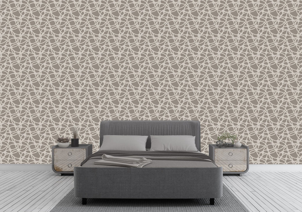 Taupe Frances Peel and Stick Wallpaper