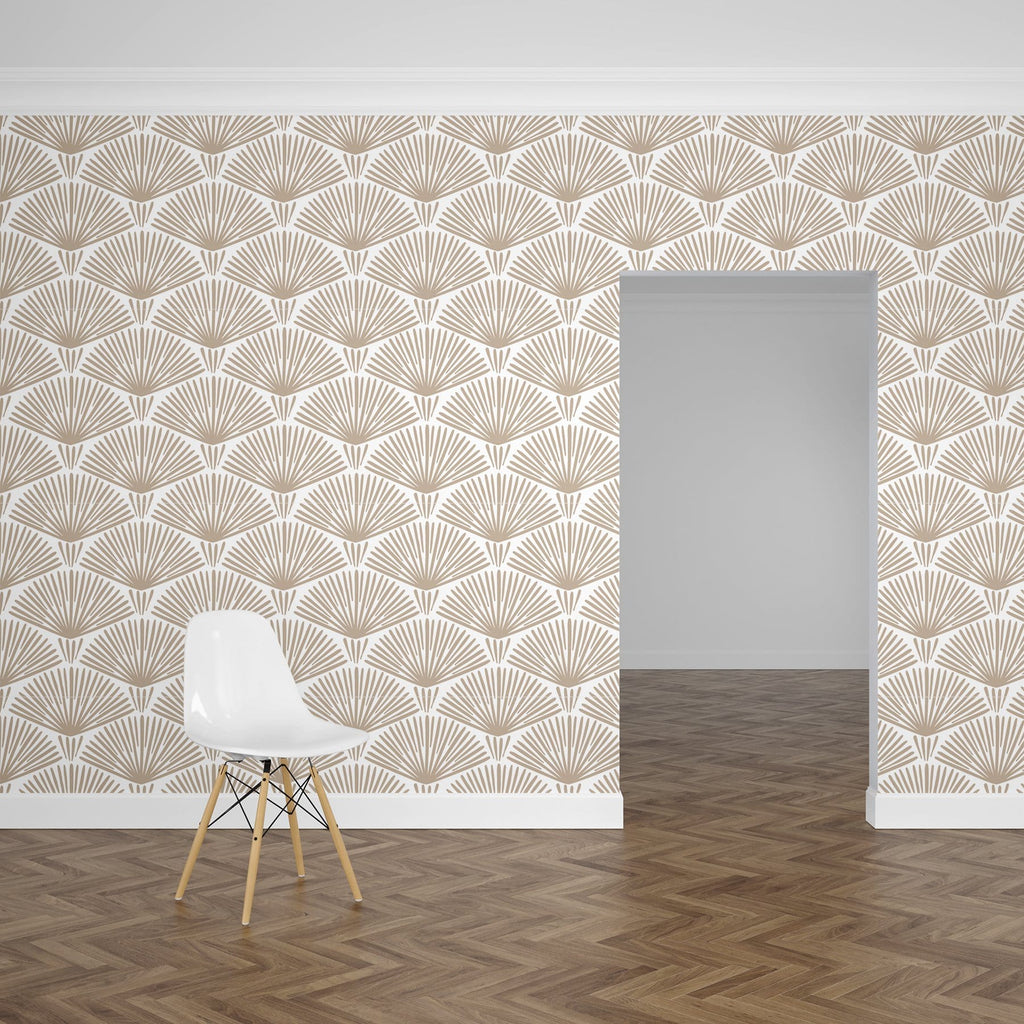 Taupe Grove Peel and Stick Wallpaper