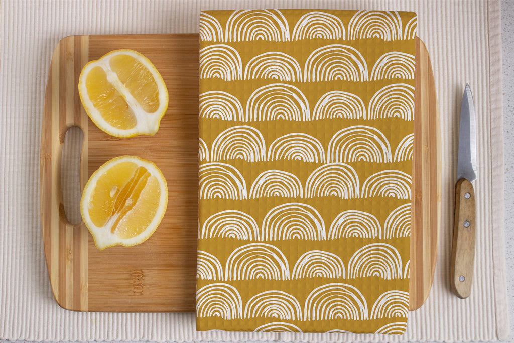 Ochre Glimmer Kitchen Tea Towel