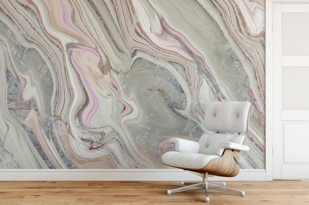 Verde Marble Mural Peel and Stick Wallpaper