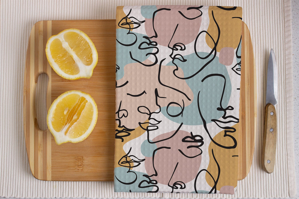 Changing Faces Kitchen Tea Towel