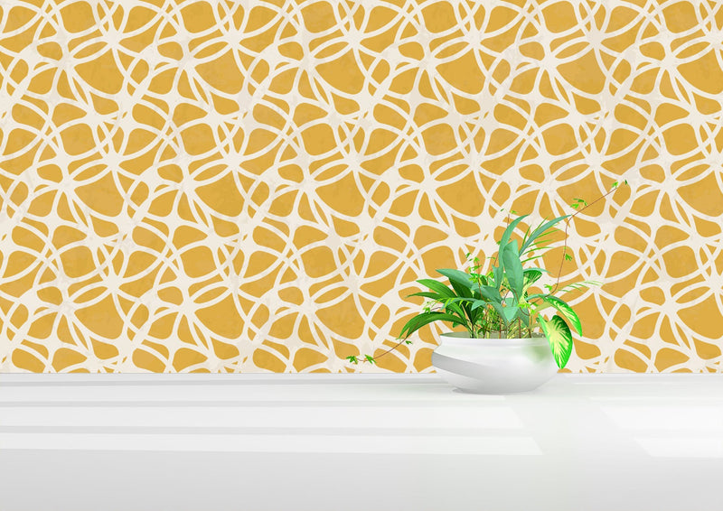 Yellow Frances Peel and Stick Wallpaper