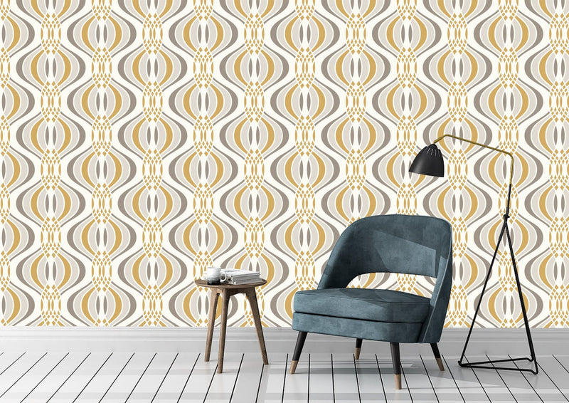 Yellow Savoy Peel and Stick Wallpaper