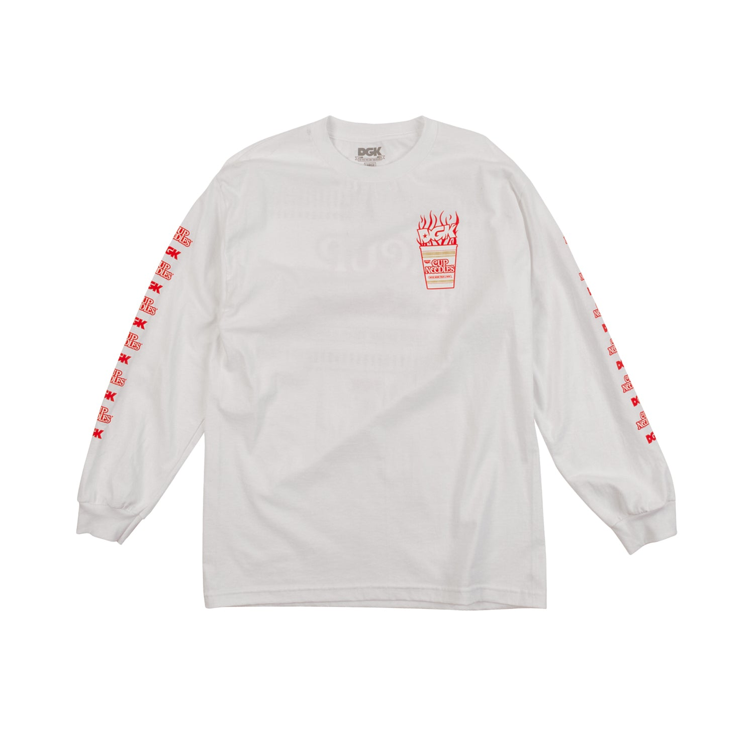 DGK x CUP NOODLES LOGO LONG SLEEVE T-SHIRT