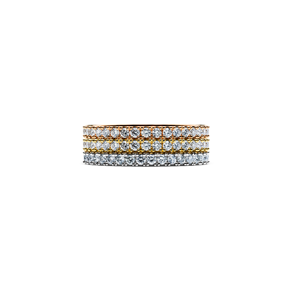Solaris Diamond Stacker Ring - 18k Gold