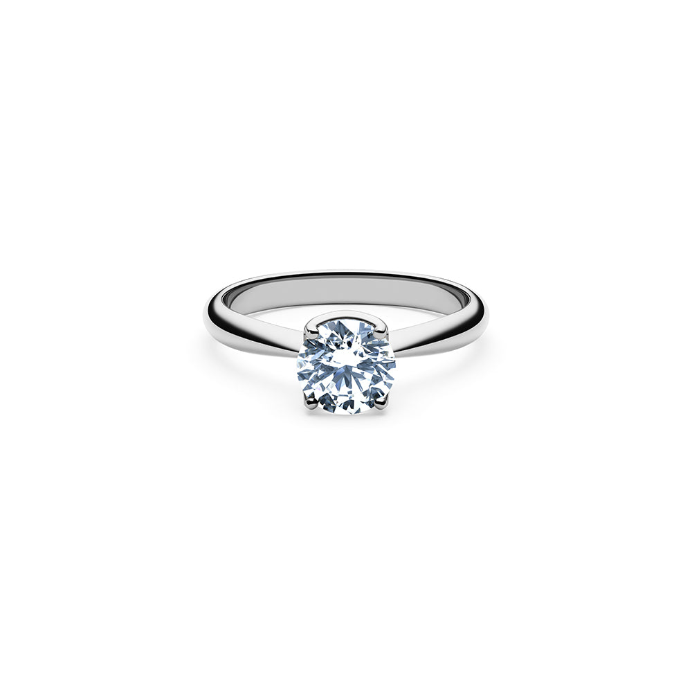 Aurora Solitaire Diamond Ring - Platinum