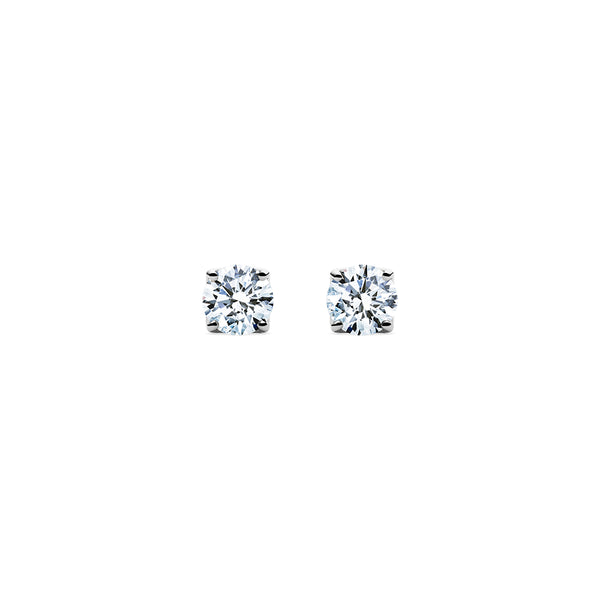 Aurora Diamond Studs - Platinum